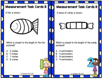 Measurement Task Cards: Length and Capacity