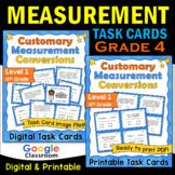 Measurement Task Cards Level 1 | 4th Grade | Includes Imag
