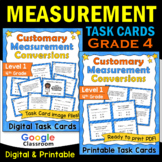 Customary Measurement Task Cards - Level 1 (Includes Image