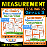 Customary Measurement Task Cards - Level 2 (Includes Image
