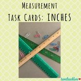 Measurement Task Cards: Measure Inches with Paper Clips and Rulers