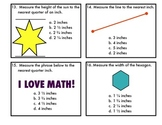 Measurement Task Cards-Measuring to the Nearest Inch and Q
