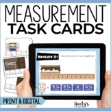 Measurement Task Cards | Measuring to the Nearest Quarter Inch