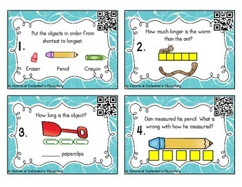 Measurement Task Cards: Nonstandard Units Set