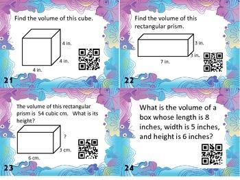 Measurement Task Cards- Perimeter, Area, & Volume