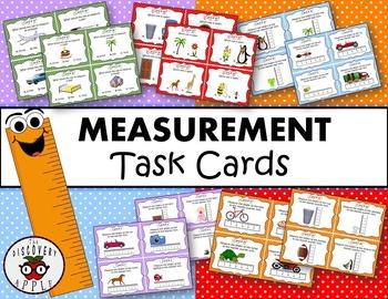 Measurement Task Cards + Recording Sheet