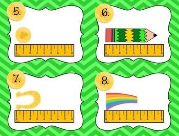 Measurement Task Cards St. Patrick's Day Leprechaun Theme  with QR codes