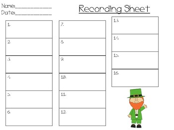 Measurement Task Cards, St. Patrick's Day Themed!