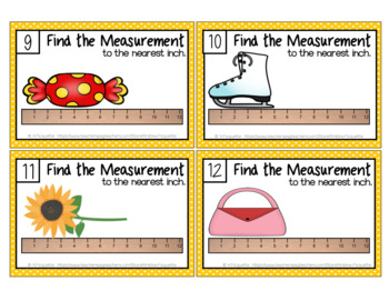 Measurement Task Cards - To the Nearest Inch