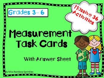 Measuring Task Cards (Grades 3-6)