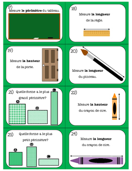 Measurement Task Cards (centimetres - whole and halves)