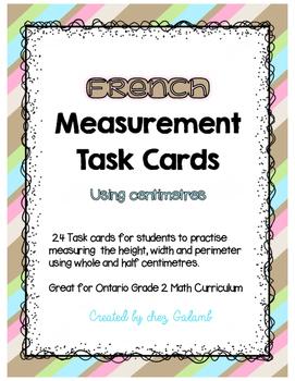 Measurement Task Cards (centimetres - whole and halves)