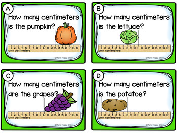 Measurement Task Cards in Inches and Centimeters
