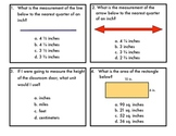 Measurement Task Cards-length, capacity, weight, area and