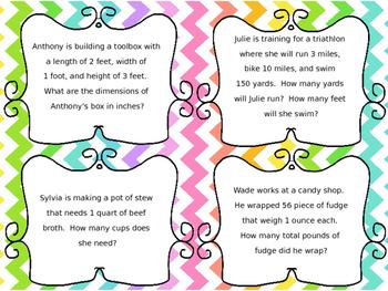 Measurement Task Cards part 2