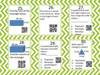 Measurement Task Cards - with QR code answers