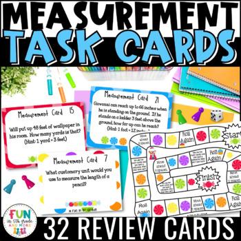 Measurement Task Cards & Game: Measurement Conversions