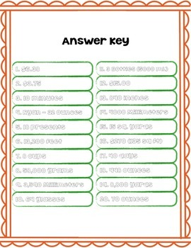 Measurement Task Cards/Word Problems for 3rd, 4th, and 5th Graders!!