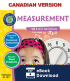 Measurement - Task & Drill Sheets Gr. PK-2 - Canadian Content