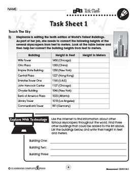 Measurement - Task Sheets Vol. 1 Gr. 6-8