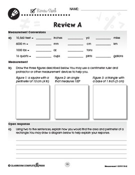 Measurement - Task Sheets Vol. 2 Gr. 6-8