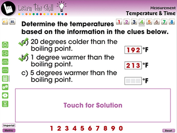 Measurement: Temperature & Time - Learn the Skill - PC Gr. 3-5