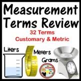 Measurement Terms Quiz
