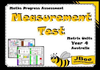 Measurement Test (Metric Units): Maths Progress Assessment—Year 4 Australia