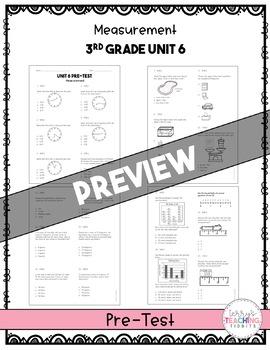 Measurement Test Pack *3rd Grade* {Unit 6}