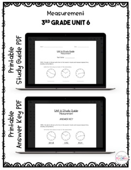 Measurement Test Pack *3rd Grade Unit 6* {Paperless}