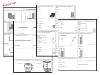 Measurement  Test & Study Guide
