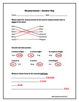 Measurement: Test Your Skills!