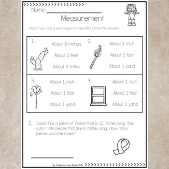 Measurement Test and Worksheets