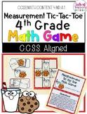 Measurement Tic- Tac- Toe: 4th Grade CCSS File Folder Math Game