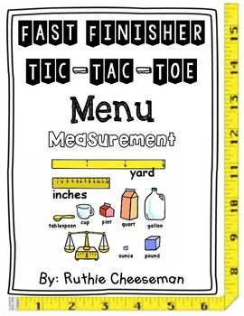 Measurement Tic-Tac-Toe Choice Menu