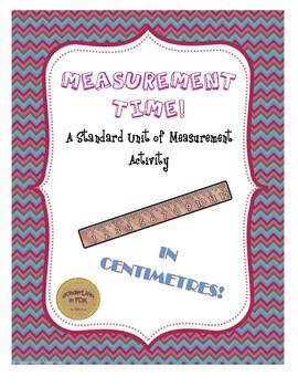 Measurement Time! A Standard Unit of Measurement Activity