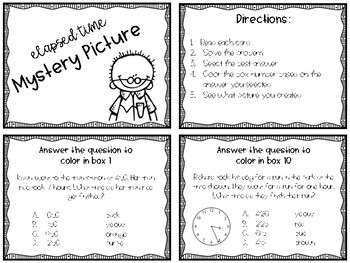 Measurement - Time - Elapsed Time - Mystery Picture