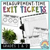 Measurement: Time Exit Tickets - Exit Slips - Math Assessm