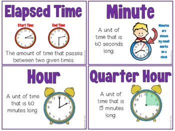 measurement time length vocabulary cards and word work activities. Black Bedroom Furniture Sets. Home Design Ideas