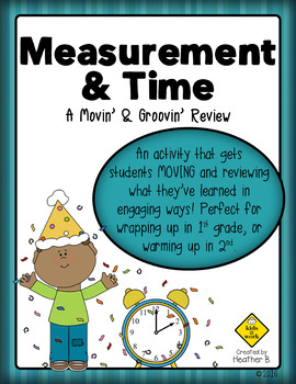 Measurement & Time Math Review Activity for First & Second Grade