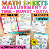 Measurement, Time, Money and Data Worksheets   Printable and Digital