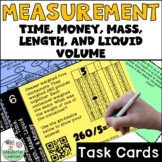 Measurement Time Money Liquid Volume Mass and Length Task Cards QR Codes