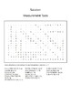 Measurement Tools Worksheet: Word Search/ Coloring Sheet