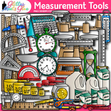 Measurement Tools Clip Art | Great for Volume, Mass, Perimeter, and Area