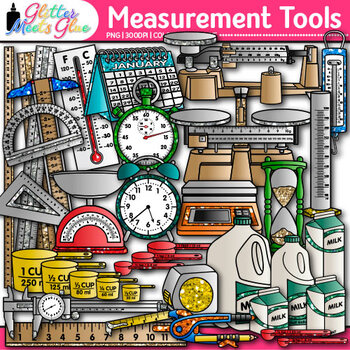 Measurement Tools Clip Art  {Great for Volume, Mass, Perim