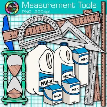 Measurement Tools Clip Art {Volume, Mass, Perimeter, Area for Math & Science}