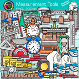 Measurement Tools Clip Art {Volume, Mass, Perimeter, Area for Math & Science}