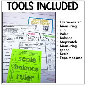 Measurement Tools: Posters, Task Cards, Mini-book, and practice pages