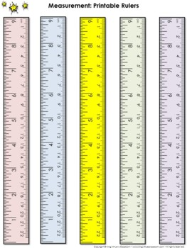Ruler Measurement Tools: Printable Rulers (9 Inches and 22 Centimeters)
