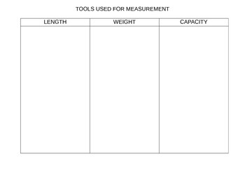 Measurement Tools Sort